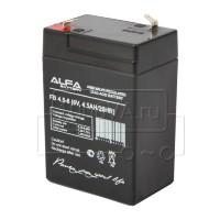 Аккумулятор ALFA Battery FB 4,5-6 для фонаря 6 В 4,5 Ач