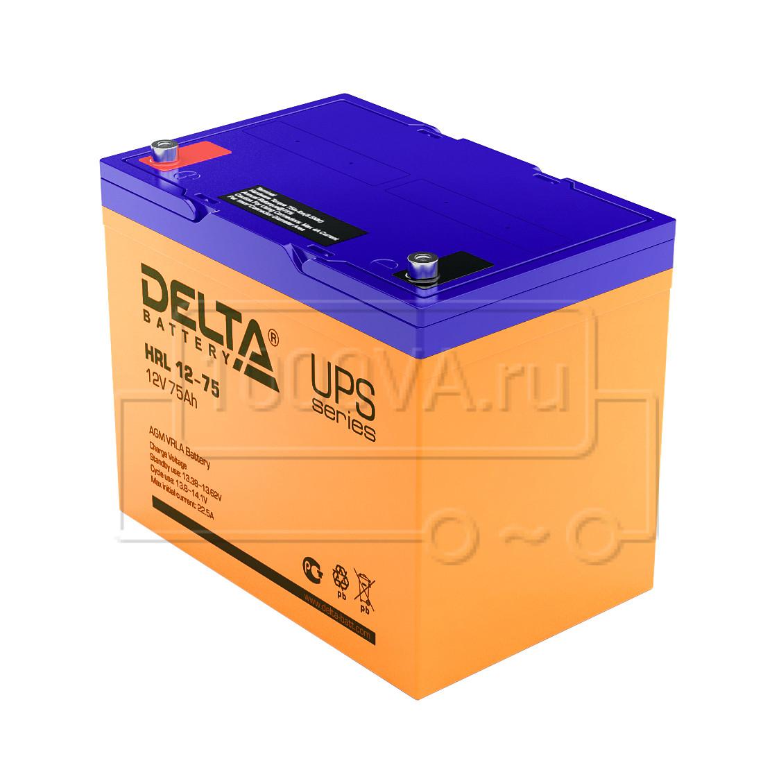 Аккумуляторная батарея Delta HRL 12-55 (12В, 55Ач