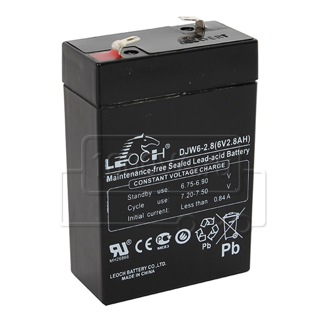 Аккумулятор LEOCH DJW6-2.8 по
